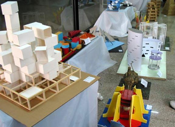 山东工艺美院环艺系立体形态设计作业展